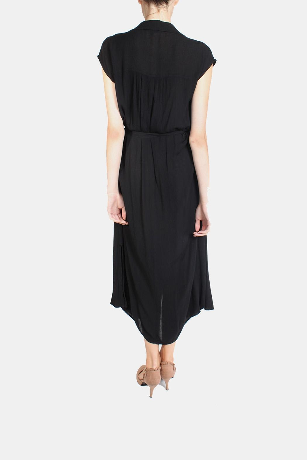 Final Touch Button Down Maxi Dress - Back Cropped Image