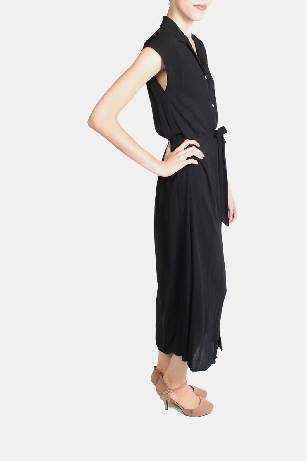 Final Touch Button Down Maxi Dress - Side Cropped Image