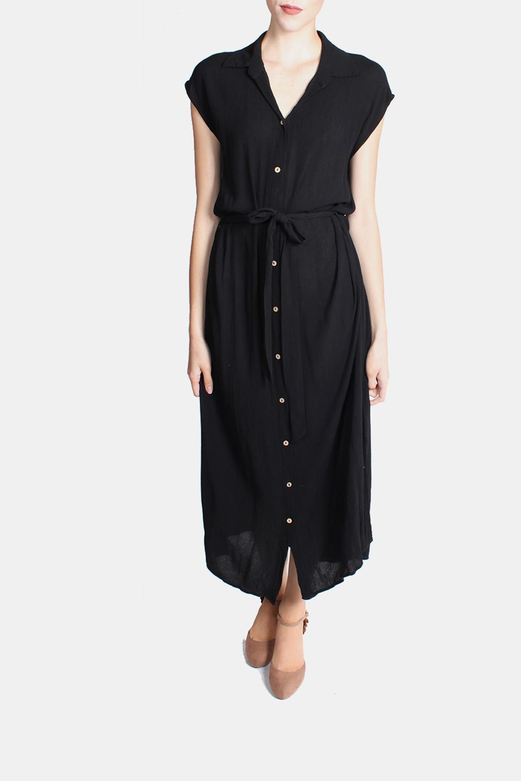 Final Touch Button Down Maxi Dress - Front Full Image