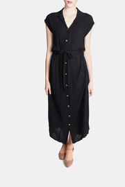 Final Touch Button Down Maxi Dress - Front full body
