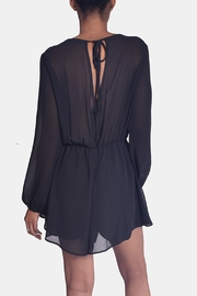 Final Touch Black Chiffon Romper - Back cropped