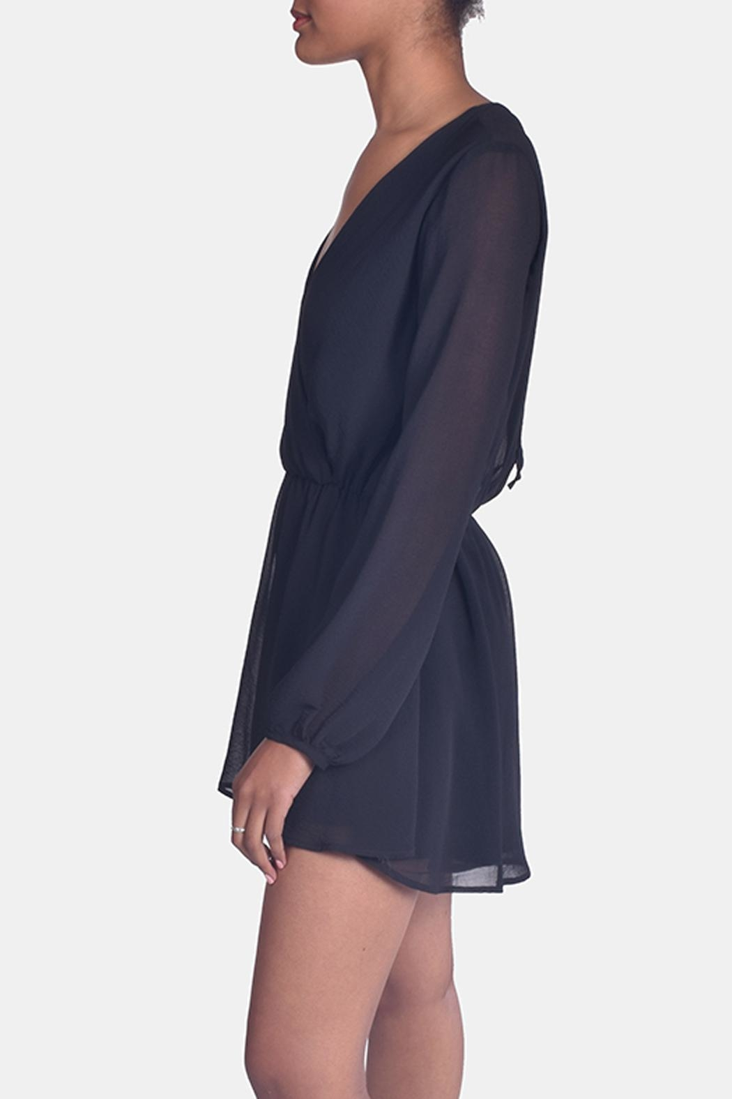 Final Touch Black Chiffon Romper - Side Cropped Image
