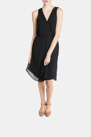 Final Touch Black Chiffon Wrap Dress - Product Mini Image
