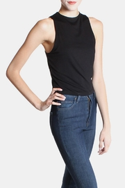 Final Touch Black High  Crop Top - Back cropped