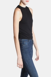 Final Touch Black High  Crop Top - Front full body