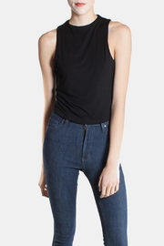 Final Touch Black High  Crop Top - Front cropped