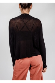 Final Touch Black Lightweight-Knit Sweater - Front full body