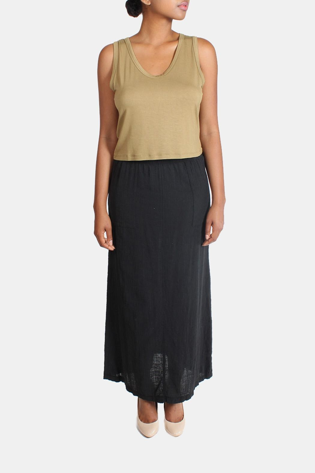 Final Touch Linen Maxi Skirt - Front Full Image