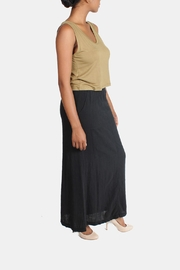Final Touch Linen Maxi Skirt - Front cropped