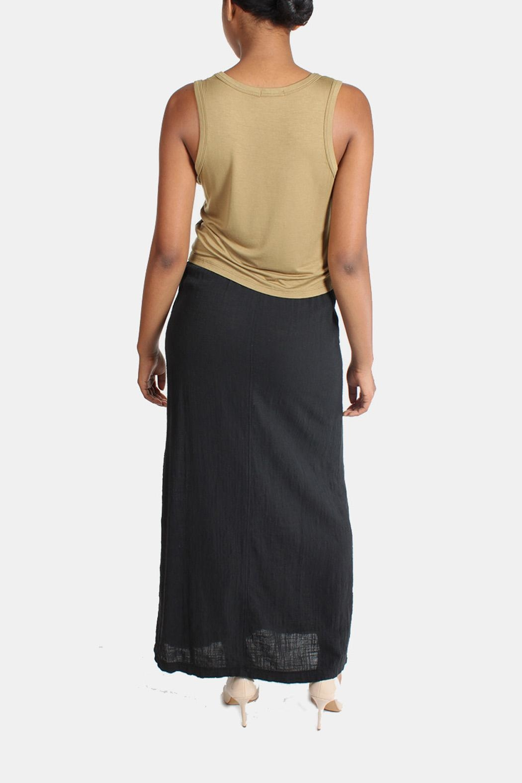 Final Touch Linen Maxi Skirt - Side Cropped Image