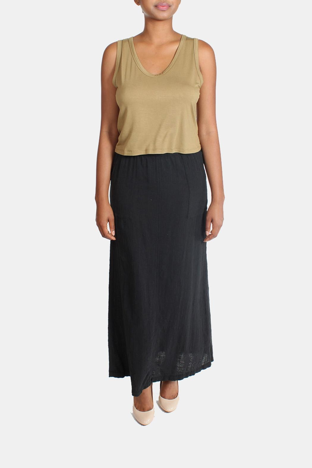 Final Touch Linen Maxi Skirt - Back Cropped Image