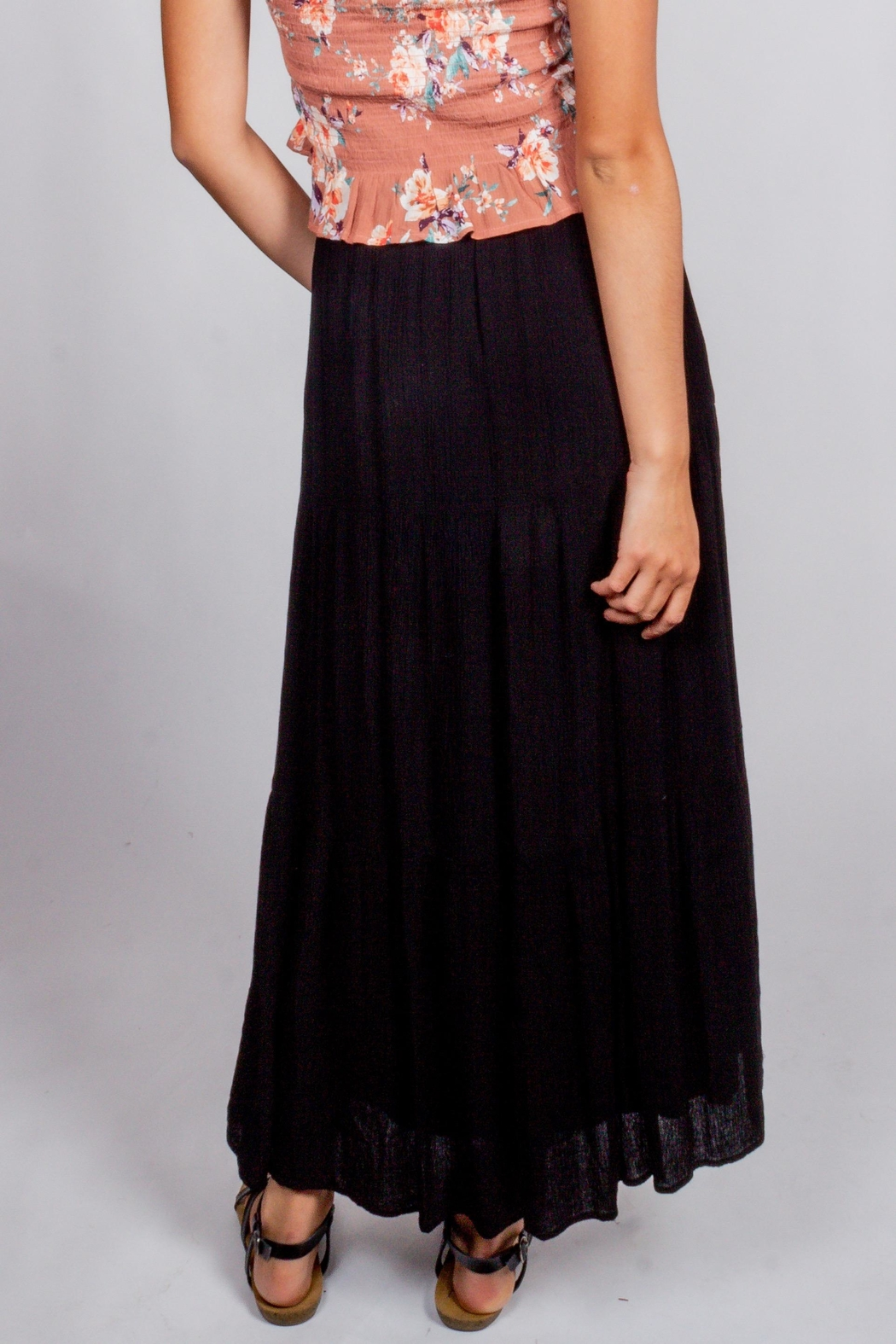 Final Touch Black-Night Maxi Skirt - Back Cropped Image