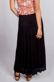 Final Touch Black-Night Maxi Skirt - Back cropped
