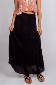 Final Touch Black-Night Maxi Skirt - Front cropped