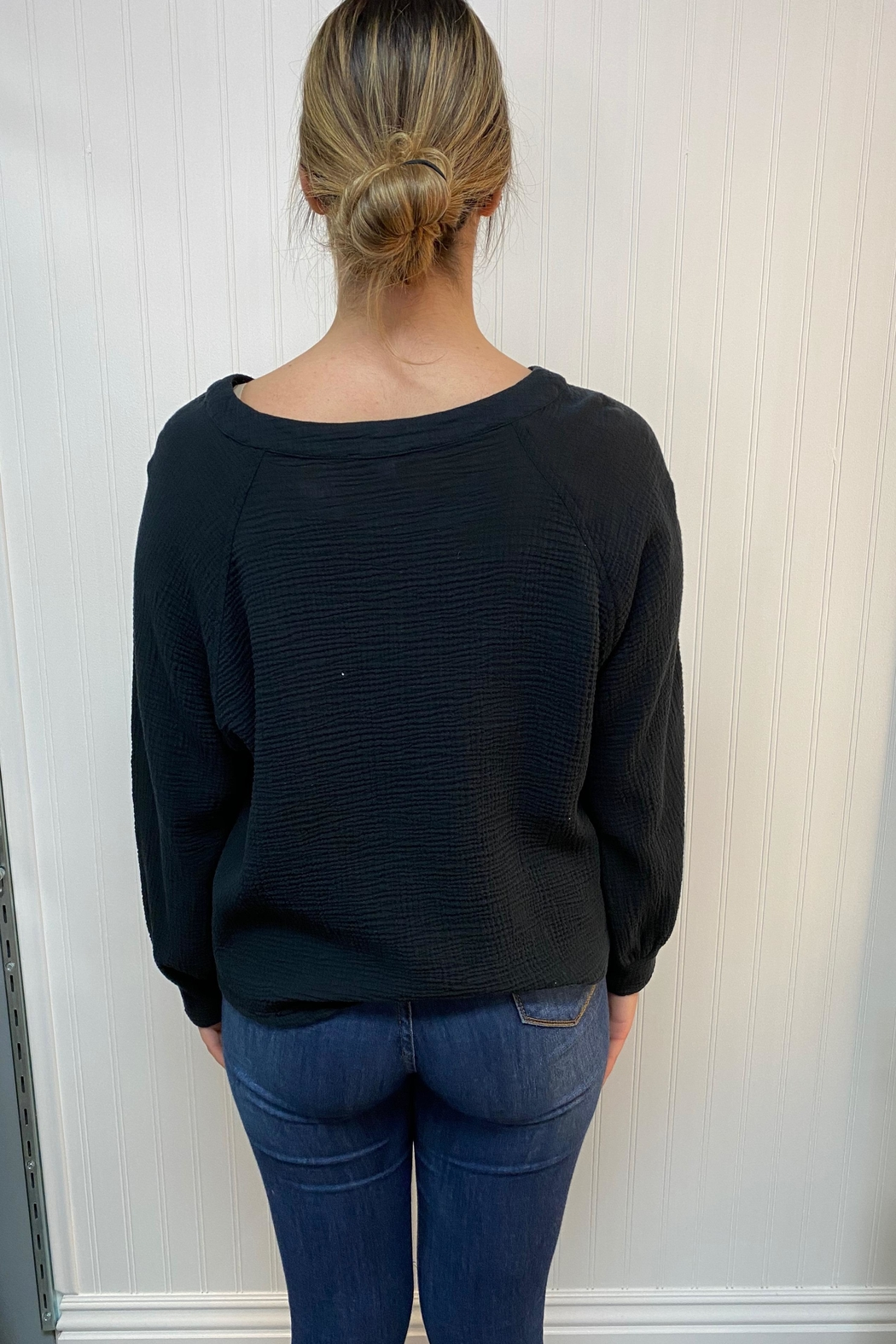 Final Touch Black Thermal Top - Front Full Image