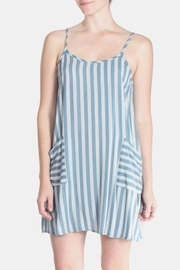 Final Touch Blue Striped Dress - Product Mini Image