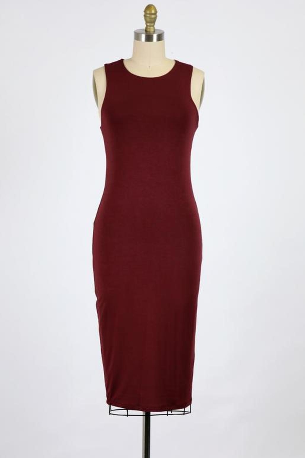 Final Touch Bombshell Bodycon Dress - Front Cropped Image