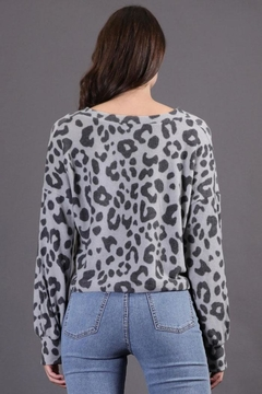 Final Touch Cheetah Pullover Top - Alternate List Image