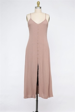Final Touch Chelsea Button Front Dress In Sand - Product List Image