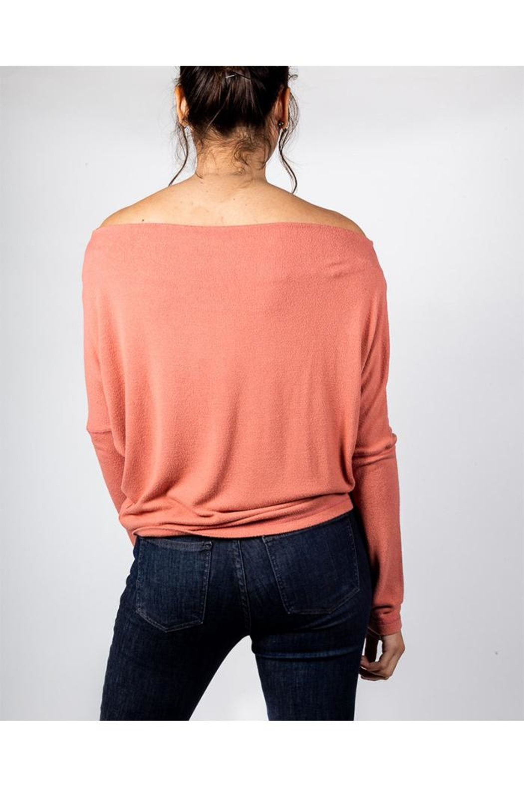 Final Touch Coral Long Sleeve - Back Cropped Image