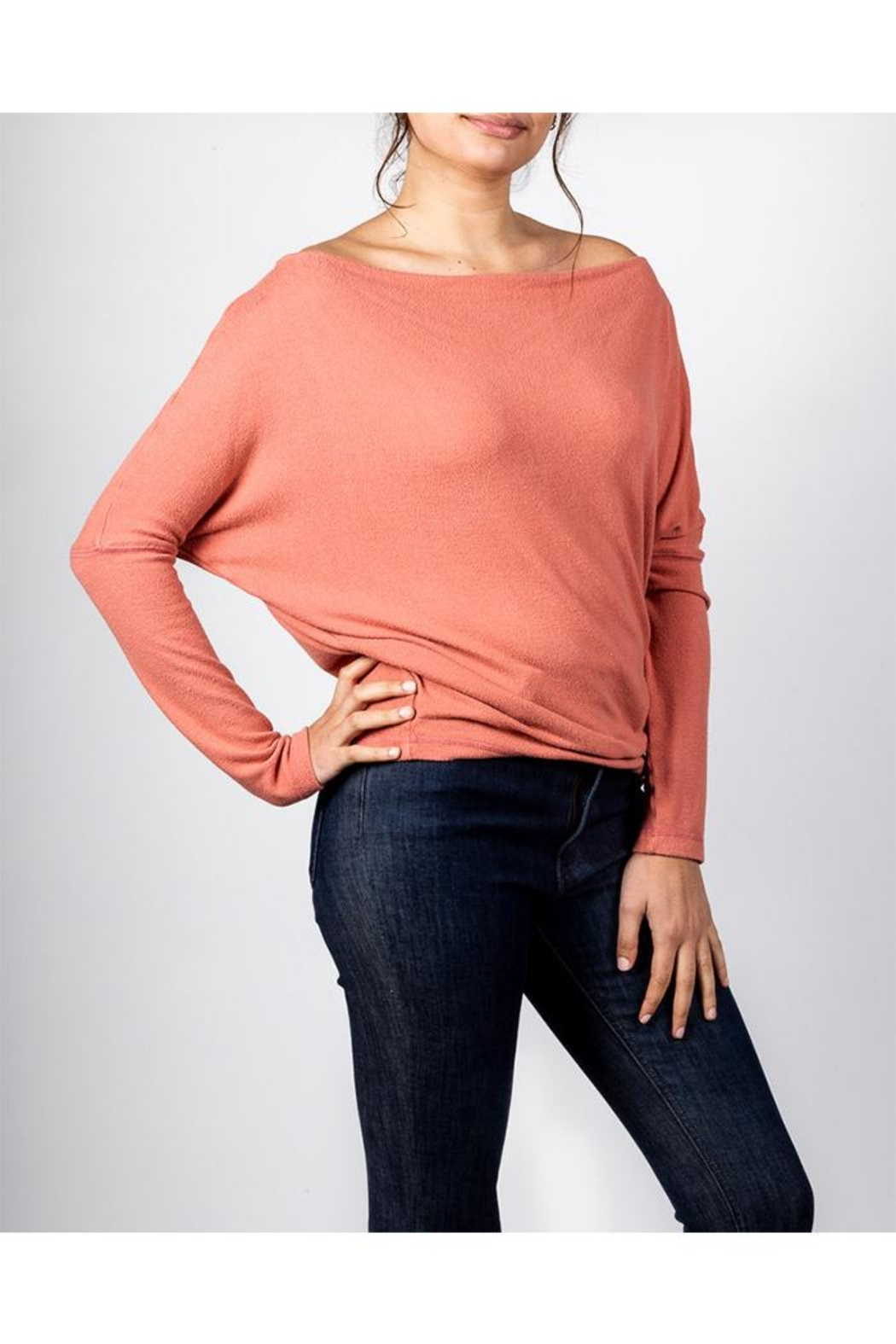 Final Touch Coral Long Sleeve - Side Cropped Image