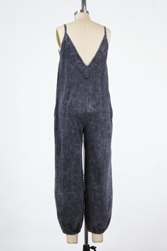Final Touch East Side Mineral Washed Jumpsuit In Black Denim - Alternate List Image