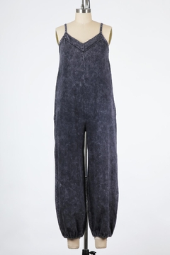 Final Touch East Side Mineral Washed Jumpsuit In Black Denim - Product List Image