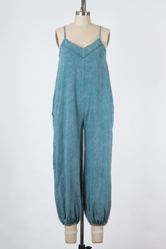 Final Touch East Side Mineral Washed Jumpsuit In Denim - Product List Image