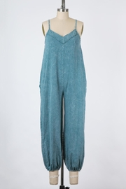 Final Touch East Side Mineral Washed Jumpsuit In Denim - Front cropped