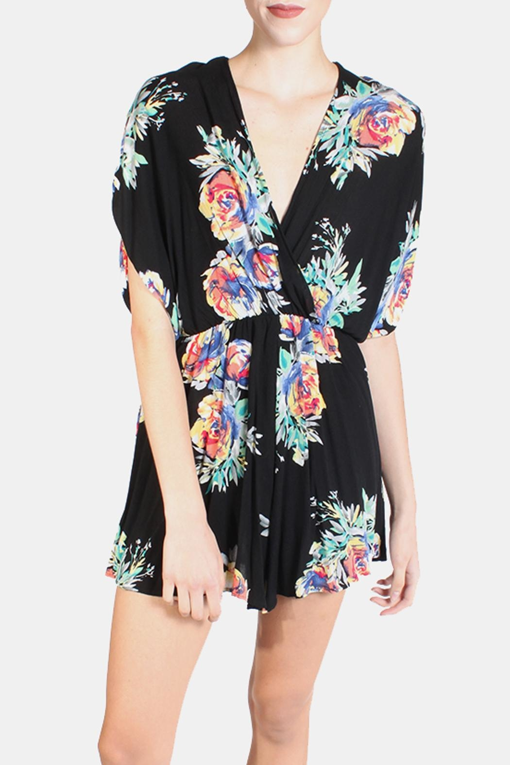 Final Touch Electric Arbitrary Roses Romper - Front Full Image