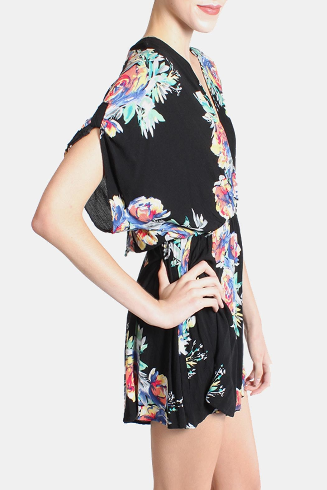 Final Touch Electric Arbitrary Roses Romper - Back Cropped Image