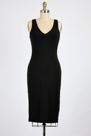 Final Touch Emerson Double Layer Bodycon Midi Dress In Modern Navy - Front cropped