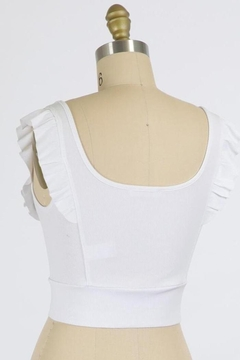 Final Touch Emma Ruffle Sleeve Top In White - Alternate List Image
