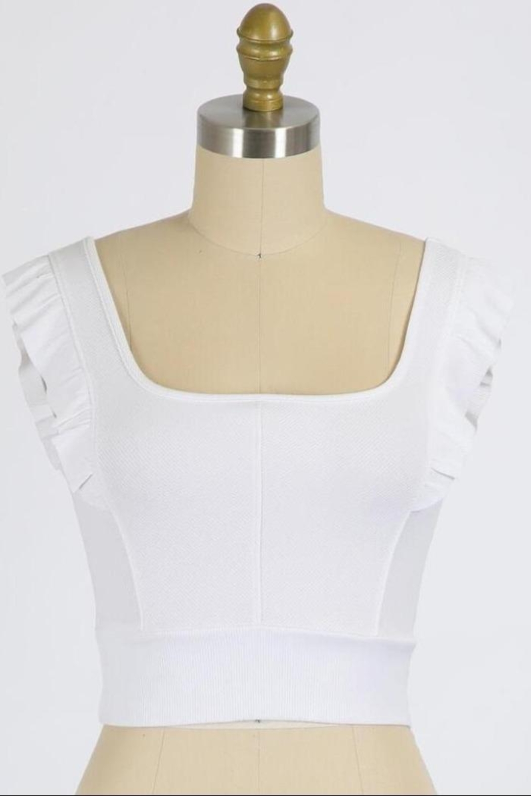 Final Touch Emma Ruffle Sleeve Top In White - Main Image
