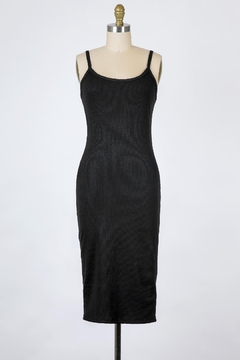 Final Touch Essential Soft Camisole Dress In Black - Alternate List Image