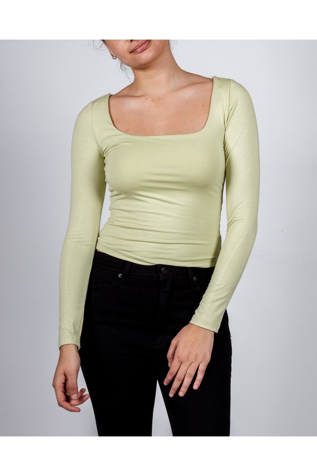 Final Touch Essential Square-Neck Top - Front Cropped Image