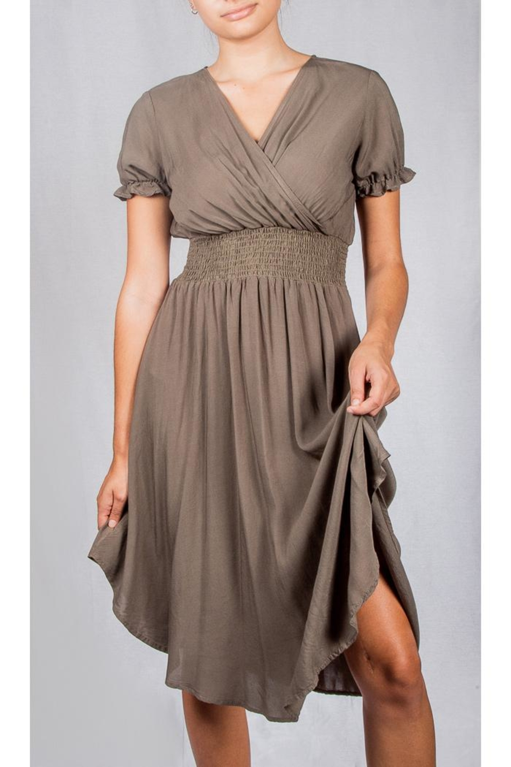 Final Touch Fall Flirty Dress - Front Cropped Image