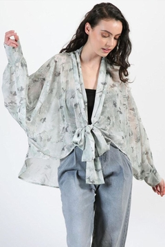 Final Touch Floral Chiffon Cardigan - Product List Image