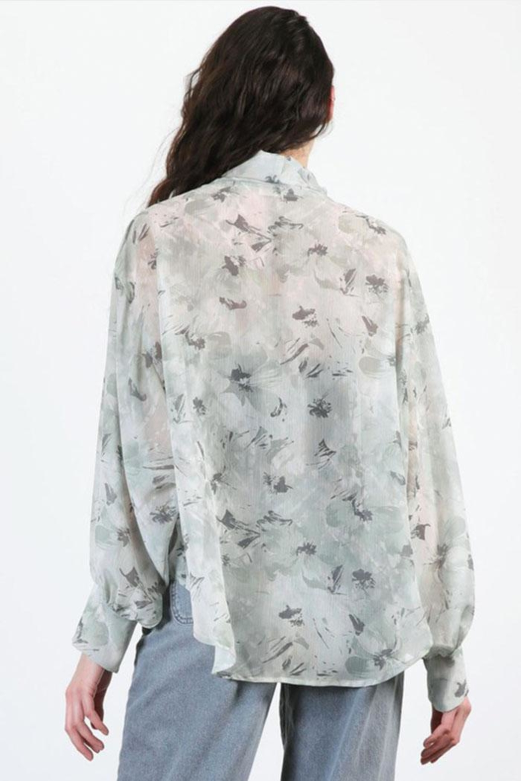 Final Touch Floral Chiffon Cardigan - Side Cropped Image
