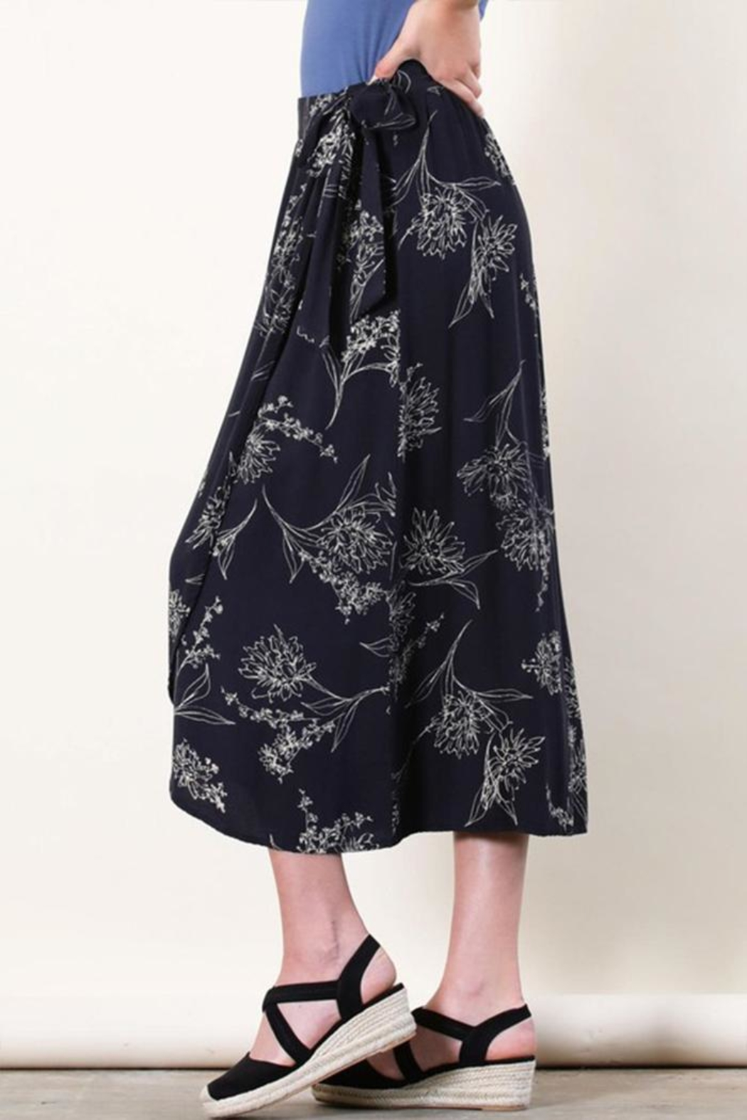 Final Touch Floral Wrap Skirt - Front Full Image