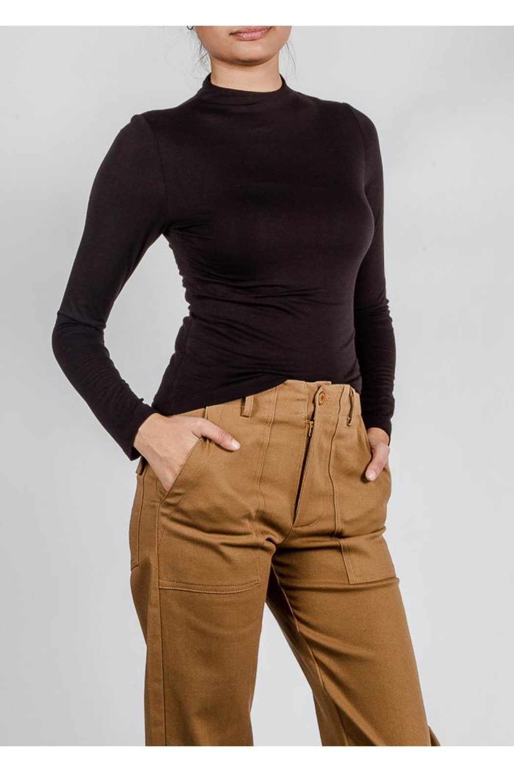 Final Touch High-Neck Double-Layer Top - Front Full Image