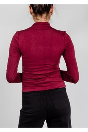 Final Touch High-Neck Double-Layer Top - Back cropped