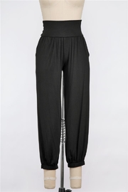 Final Touch High Waisted Harem Pant With Pockets (In Black And Grey) - Product Mini Image