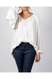 Final Touch Ivory Peasant Top - Product Mini Image