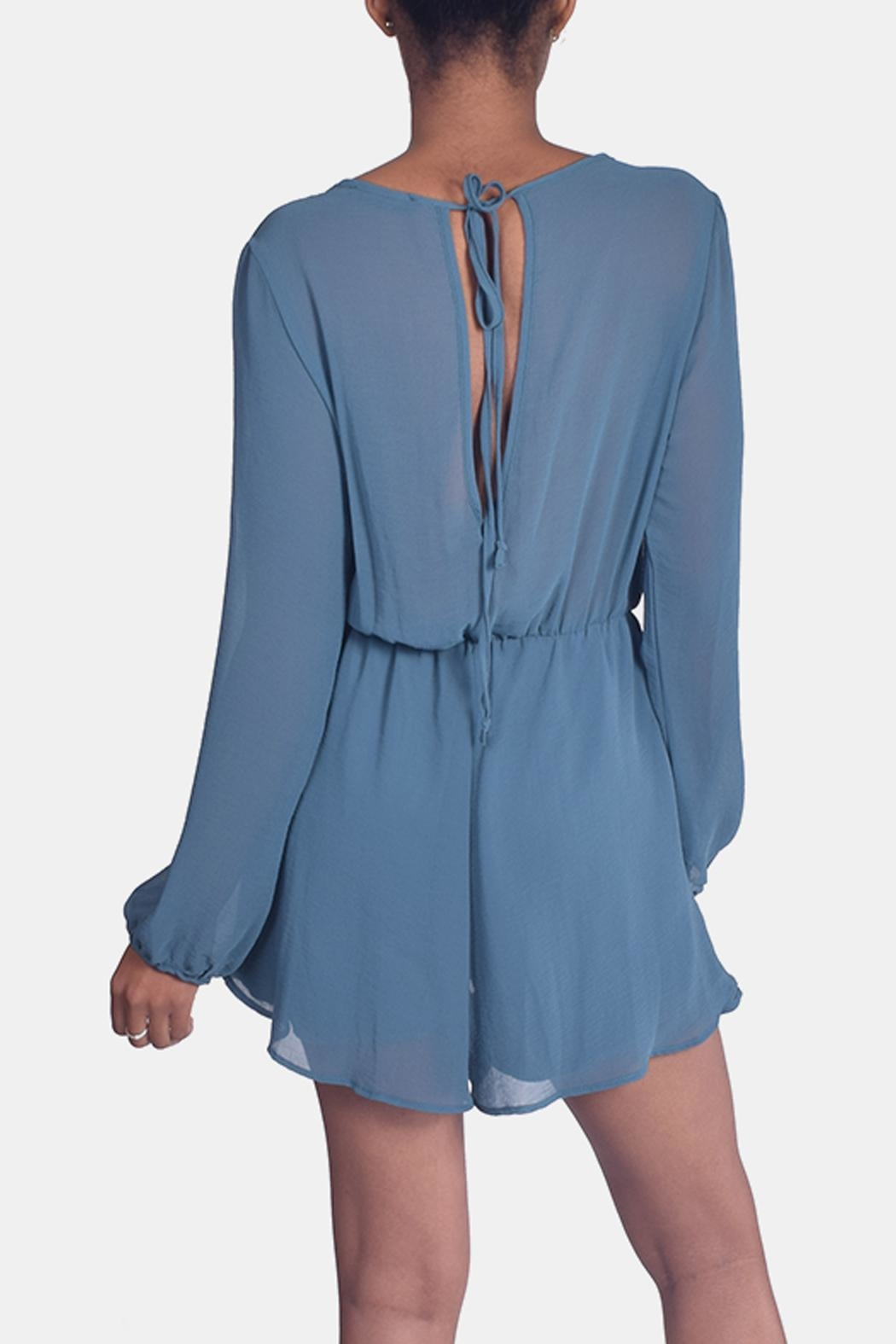 Final Touch Jade Chiffon Romper - Back Cropped Image