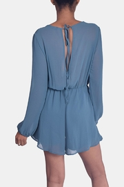 Final Touch Jade Chiffon Romper - Back cropped