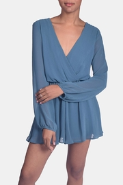 Final Touch Jade Chiffon Romper - Front full body