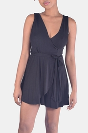 Final Touch Jersey Wrap Romper - Front cropped