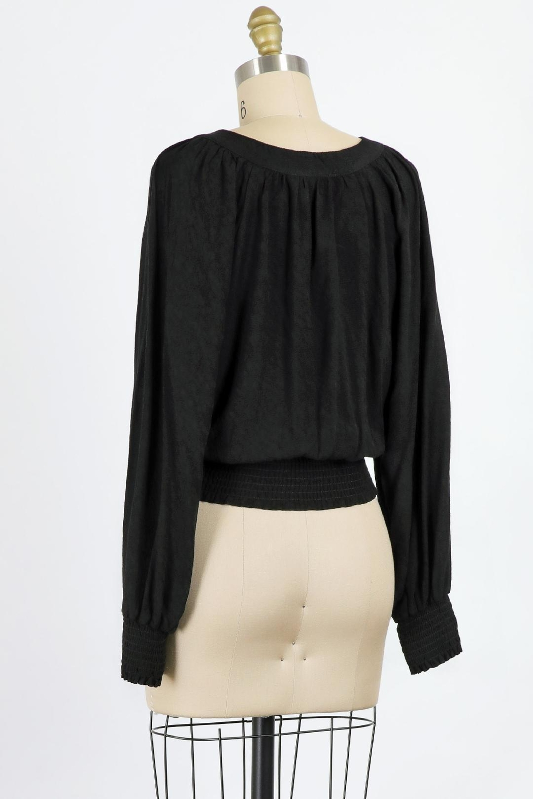 Final Touch Juliette Blouse In Black - Front Full Image