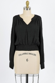 Final Touch Juliette Blouse In Black - Front cropped